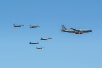 Luke AFB salutes essential workers with flyover
